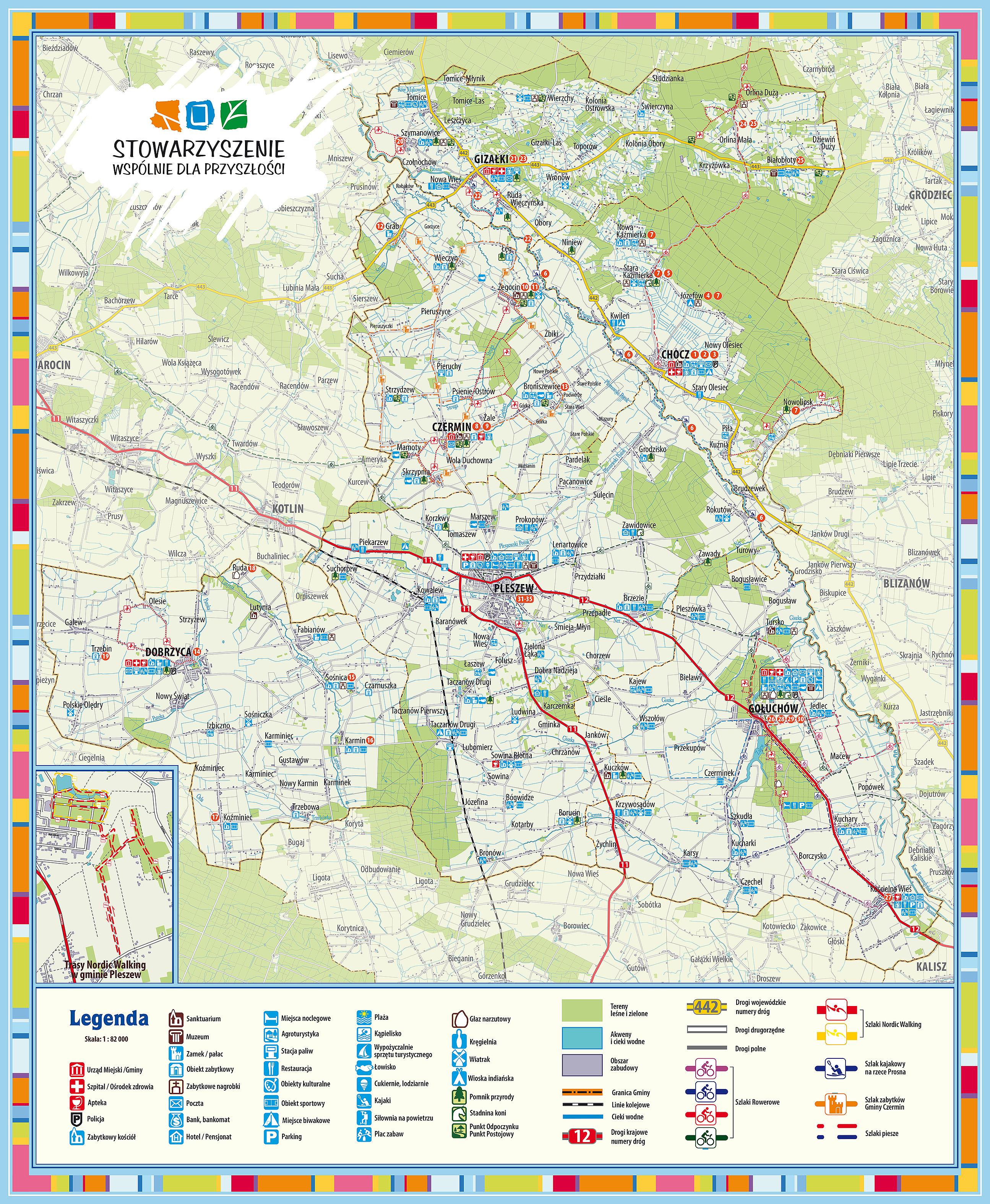 mapa powiatu pleszewskiego