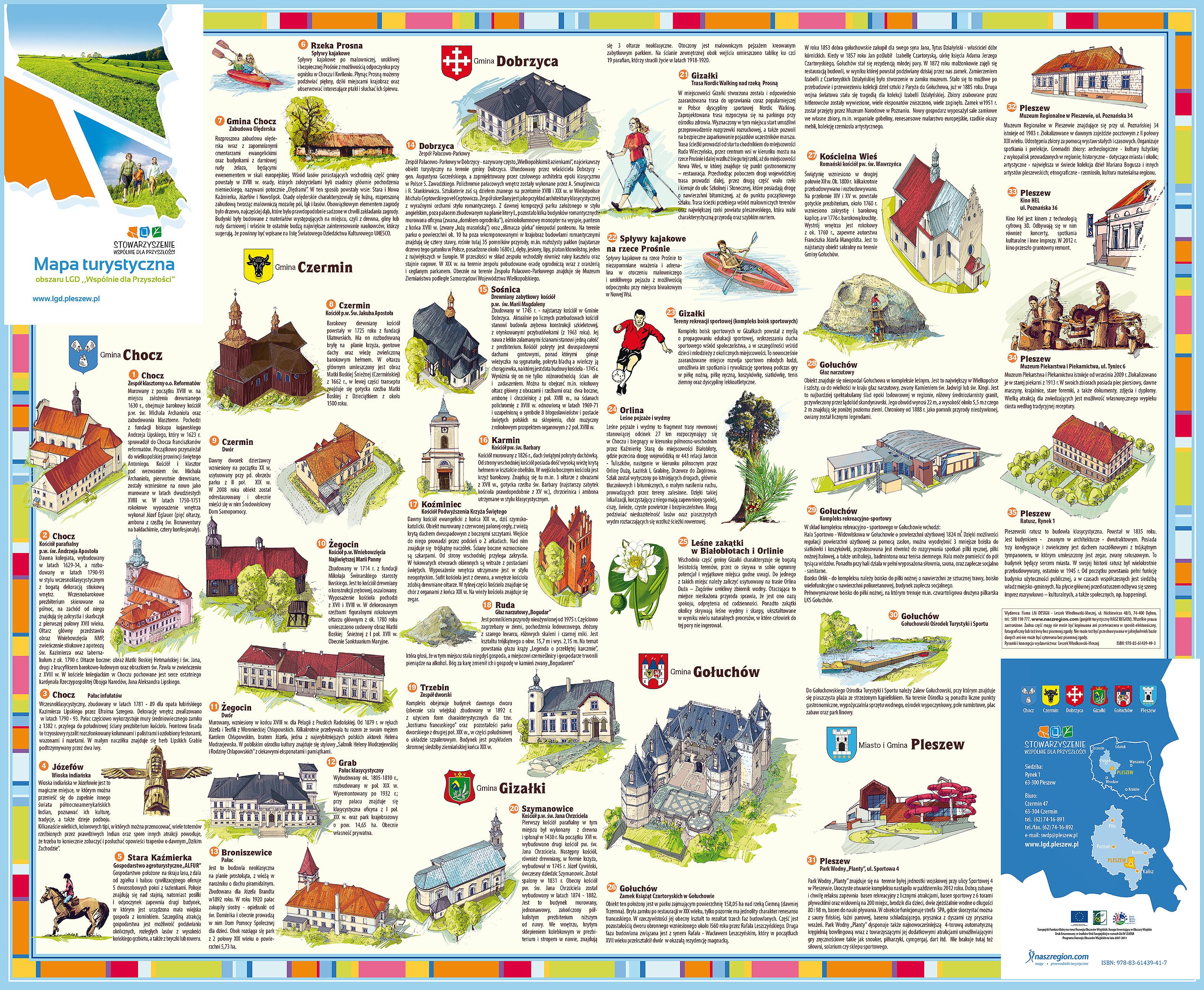 mapa turystyczna powiatu pleszewskiego